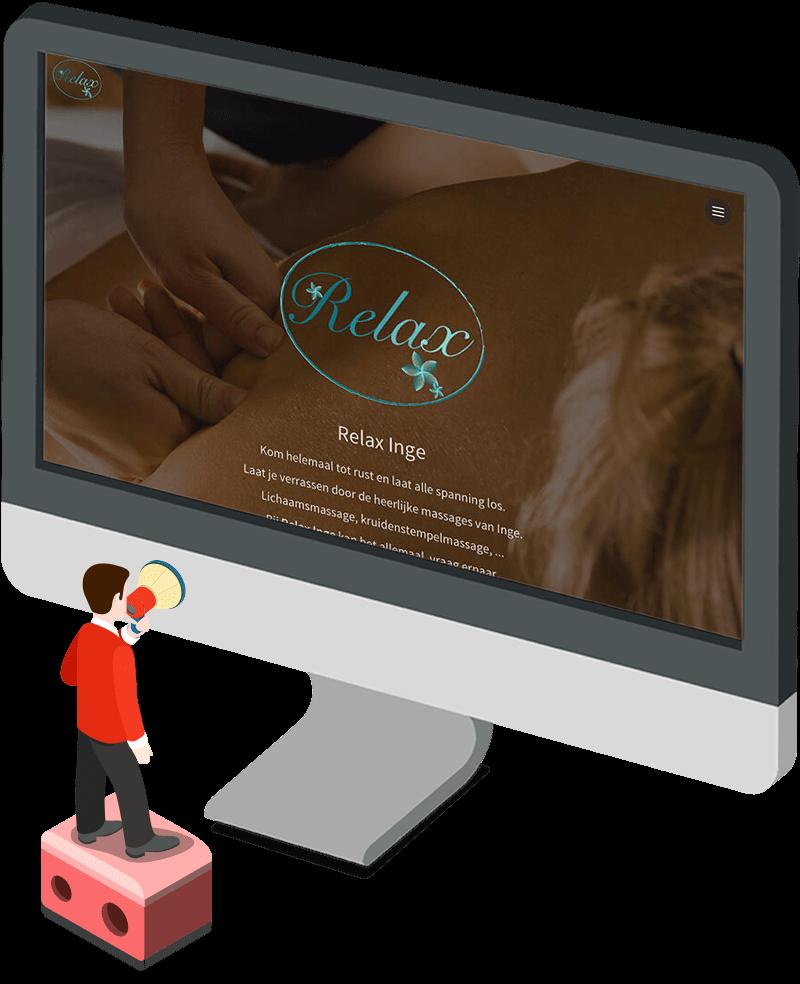 Mockup website Relax Inge