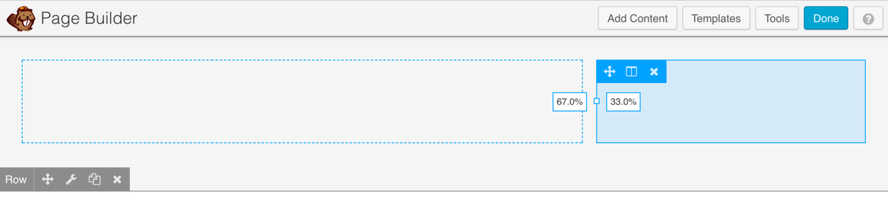 How to set a custom column width within Beaver Builder