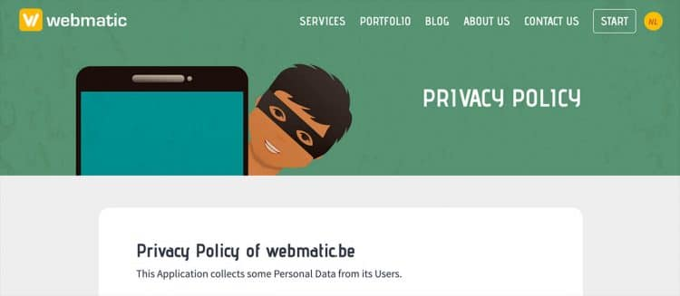 Privacy Policy rendered by iubenda