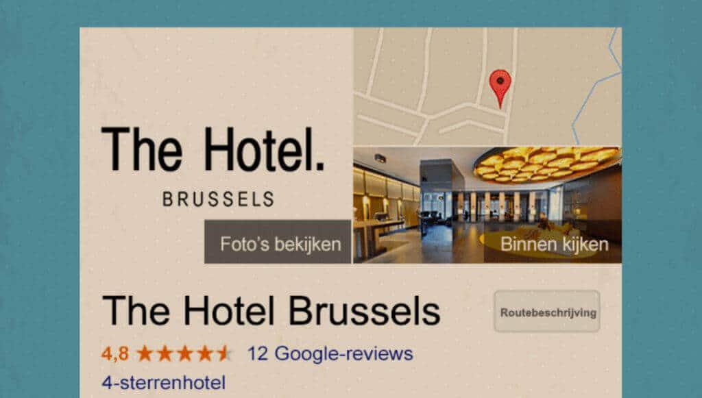 Google Mijn Bedrijf Kaartresultaat voorbeeld