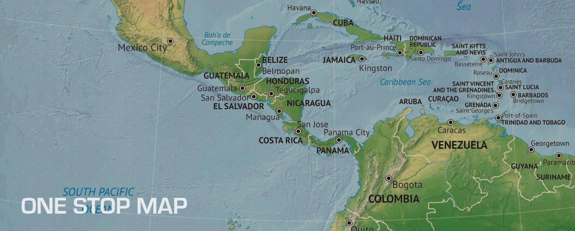 One Stop Map - Bewerkbare landkaarten van over de hele wereld.