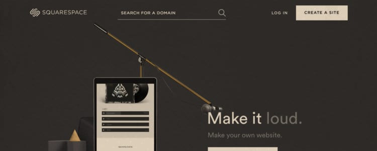 Squarespace - visual website builder that's not free, but is wildly popular