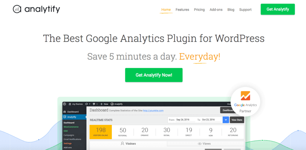 Analytify - een Google analytics plugin voor WordPress