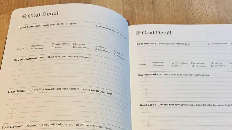 Full Focus Planner - Detail van een doel