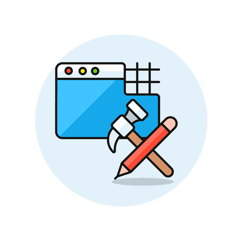 Symbol for a customized website