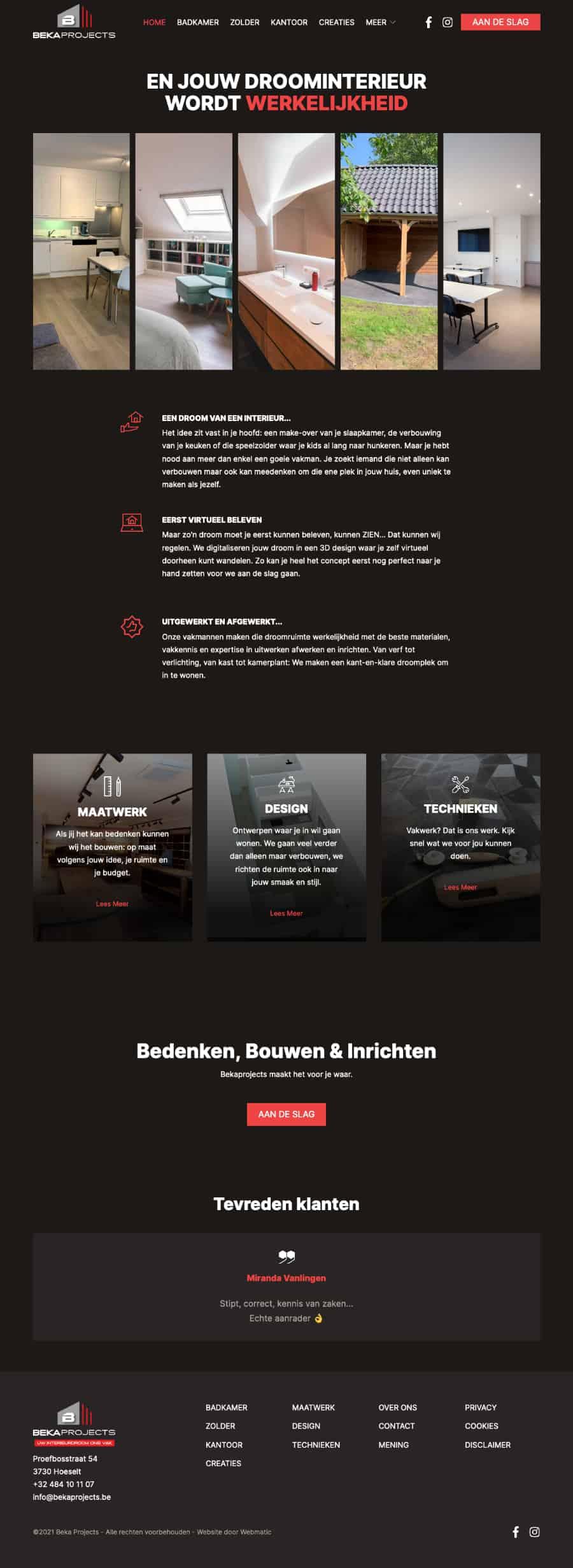 Uw Interieurdroom Ons Vak - Beka Projects