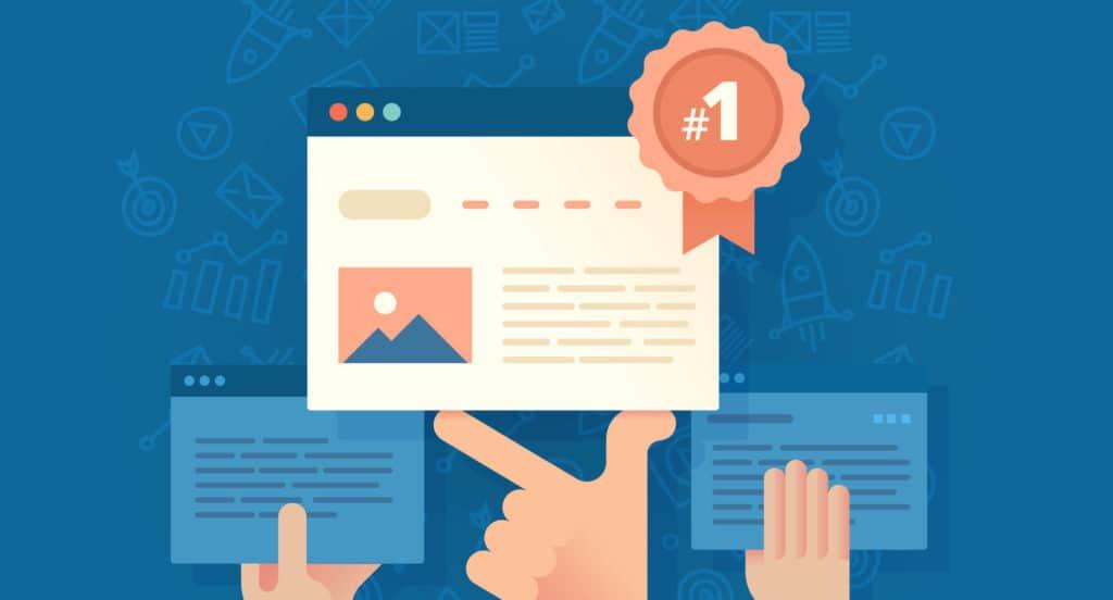 Top 3 van ranking websites in de zoekresultaten
