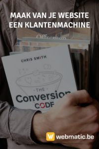 Maak van je website een klantenmachine met deze 7 topideeën uit de 'Conversion Code' van Chris Smith (#5 moet je weten als je adverteert op Facebook). 1